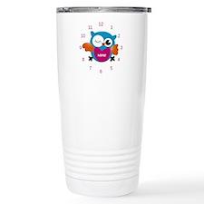 Personalized Owl Print Travel Mug
