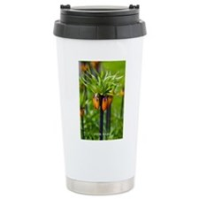 Personalized Floral Background Travel Mug
