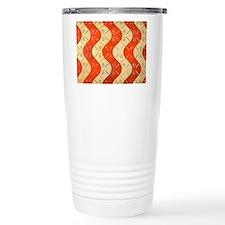 Aged Wave Pattern Travel Mug