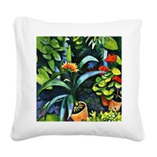 August Macke - Flowers in the Square Canvas Pillow
