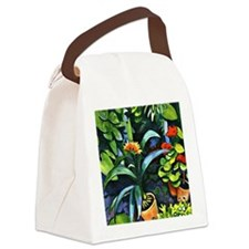 August Macke - Flowers in the Gar Canvas Lunch Bag