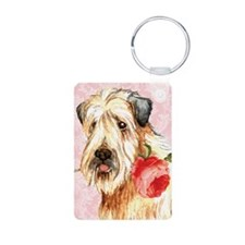 Wheaten Rose Keychains