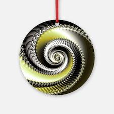 Intervolve Yellow Round Ornament