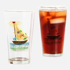 I am happy Drinking Glass