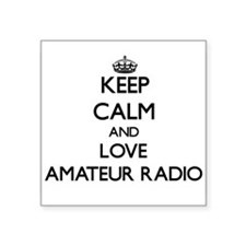 Keep calm and love Amateur Radio Sticker