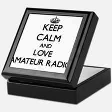 Keep calm and love Amateur Radio Keepsake Box