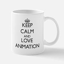 Keep calm and love Animation Mugs