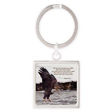 ISAIAH 40:31 WINGED EAGLES Keychains