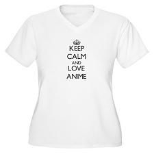 Keep calm and love Anime Plus Size T-Shirt