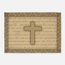Cross W/ Bible Verses 5'X7'area 5'X7'area Rug