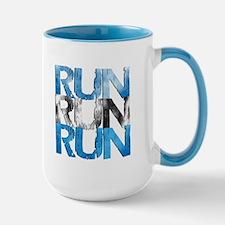RUN X 3 (Center) Large Mug