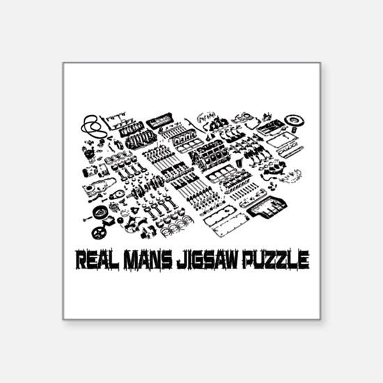 Real mans puzzle-small block V8 Sticker