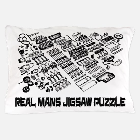Real Mans Puzzle-Small Block V8 Pillow Case