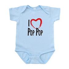 I heart pop pop, I love pop pop Body Suit
