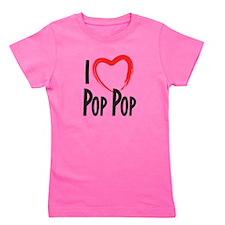 I heart pop pop, I love pop pop Girl's Tee