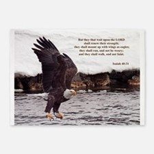 ISAIAH 40:31 WINGED EAGLES 5'x7'Area Rug