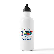 1st Birthday Airplane Water Bottle