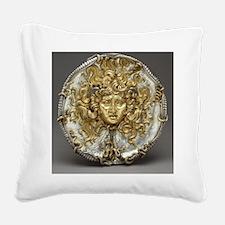 Medusa Metalwork Square Canvas Pillow