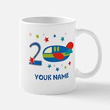 2nd Birthday Airplane Mugs