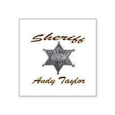 Andy Taylor Sheriff Sticker