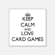 Keep calm and love Card Games Sticker