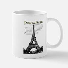 I Love France-Eiffel Tower Mugs