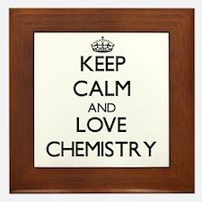 Keep calm and love Chemistry Framed Tile