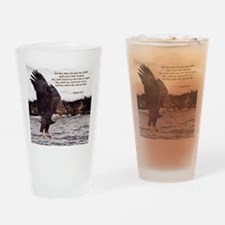 ISAIAH 40:31 WINGED EAGLES Drinking Glass
