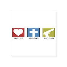 ProLifeGodGuns-BUMPER Sticker