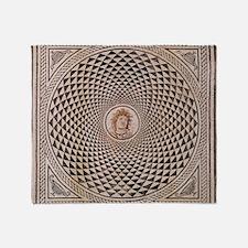Floor Mosaic of Medusa Throw Blanket