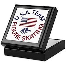 U.S.A. Team Figure Skating Keepsake Box