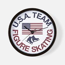 U.S.A. Team Figure Skating Wall Clock