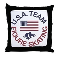 U.S.A. Team Figure Skating Throw Pillow