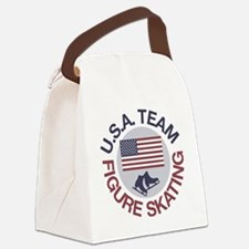 U.S.A. Team Figure Skating Canvas Lunch Bag