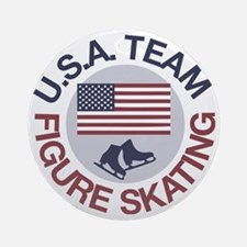U.S.A. Team Figure Skating Round Ornament