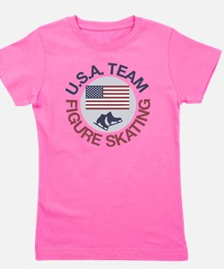 U.S.A. Team Figure Skating Girl's Tee