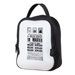 Wanted John Wilkes Booth Neoprene Lunch Bag