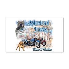 American Icons Bikes Bullies Car Magnet 20 X 12 Ca