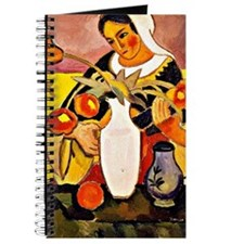August Macke - Woman Playing the Lute Journal