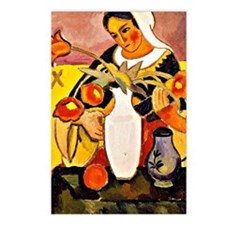 August Macke - Woman Play Postcards (Package of 8)