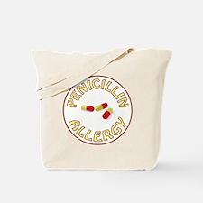 PENICILLIN ALLERGY Tote Bag