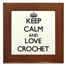 Keep calm and love Crochet Framed Tile