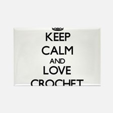 Keep calm and love Crochet Magnets