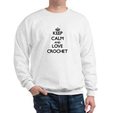 Keep calm and love Crochet Jumper