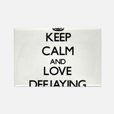 Keep calm and love Deejaying Magnets