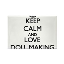Keep calm and love Doll Making Magnets