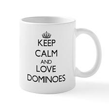 Keep calm and love Dominoes Mugs
