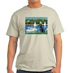 Sailboats & Black Lab Light T-Shirt