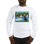 Sailboats & Black Lab Long Sleeve T-Shirt