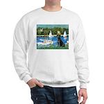 Sailboats & Black Lab Sweatshirt